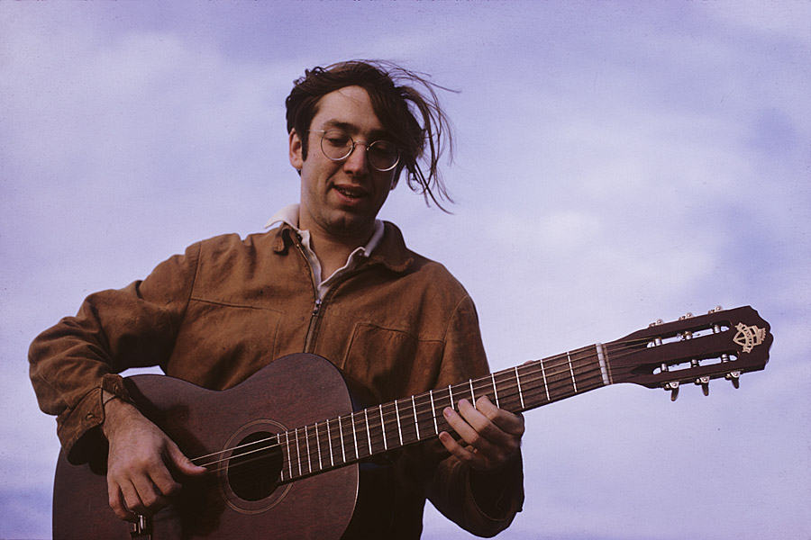 Waqidi with his Favilla classical guitar Nov. 1968